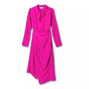 Cushnie x Target Magenta Pink Shirtdress NWT